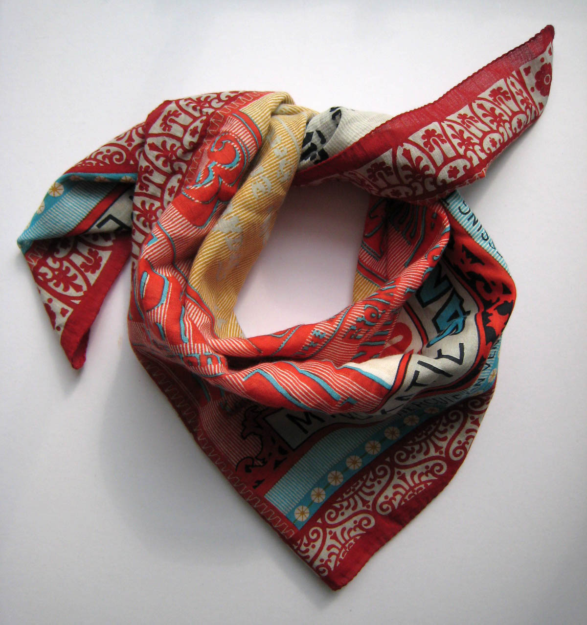 Epice - Text Print Scarf Red found boutique bath