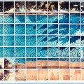 sun on the pool - polaroid composite - david hockney pictures