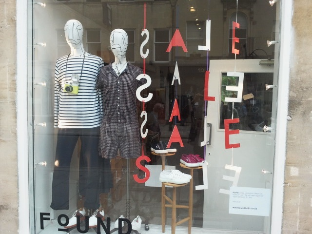 found boutique bath sale window