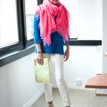 lorraine candy pink scarf - elle found bath boutique stella telegraph top 50