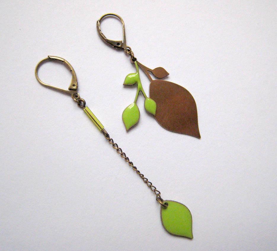 lina poum - leaf earrings stella telegraph top 50 found bath boutique designer shop