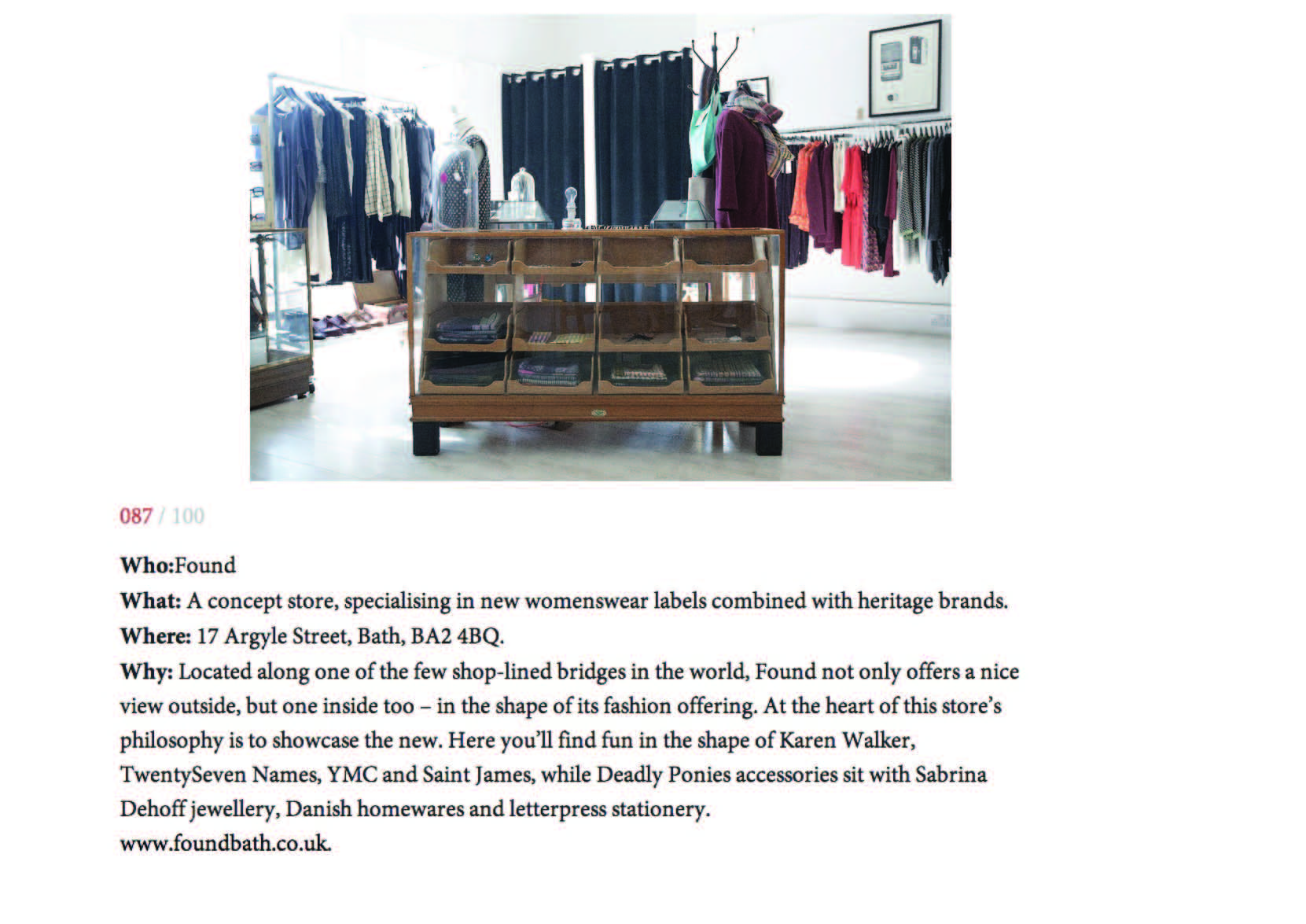 VOGUE COM - Top 100 Shops Outside of London stella telegraph top 50 found bath boutique designer shop vogue top 100