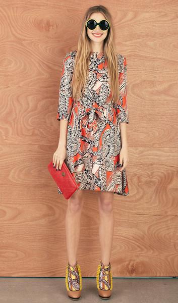 KW - sea urchin dress paisley red stella telegraph top 50 found bath boutique designer shop vogue top 100 glamour magazine