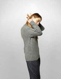 YMC RIDGE KNIT Q8CAQ_GREY