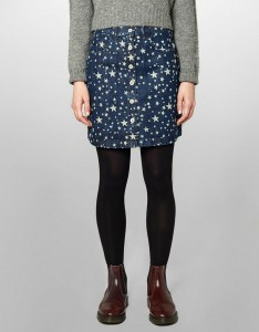 YMC STAR PRINT SKIRT Q3CAB BLUE