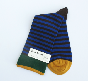 bonne-maison-stripe-socks-night